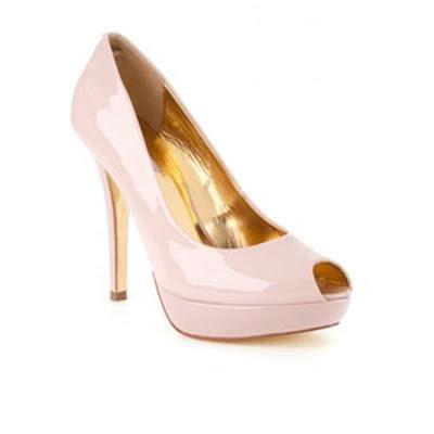 Pink bridal shoes Ted Baker