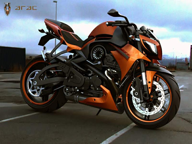 Moto ARAC ZXS Street Fighter design agressivo