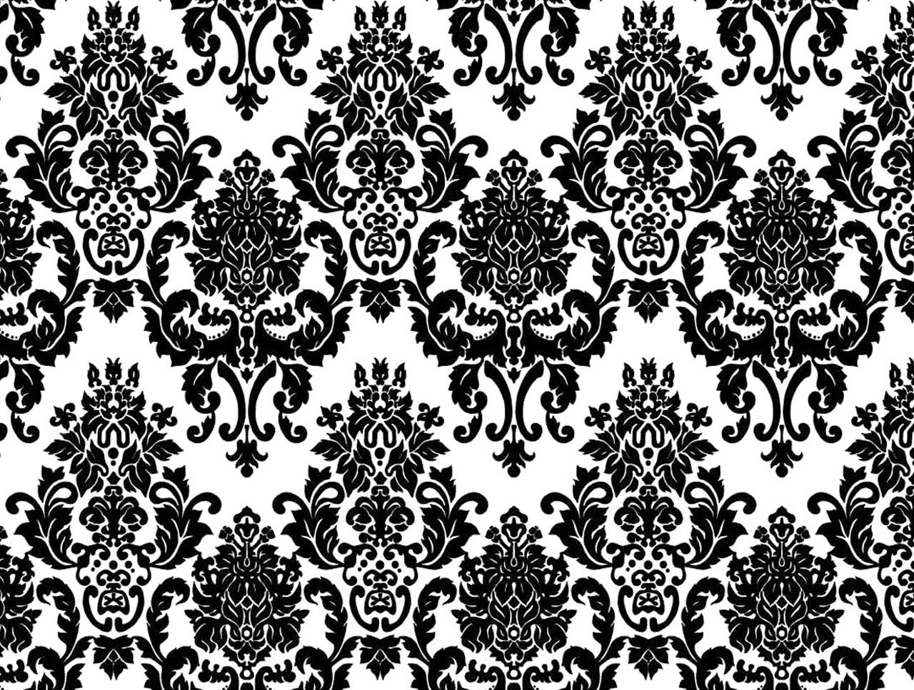 Mix damask wallpaper wallpaperyork brows your for Black white damask wallpaper mural