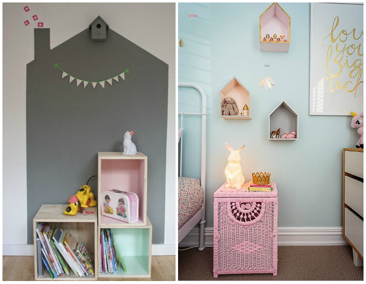 Ideas low cost para dormitorios infantiles estantes la - Habitaciones low cost ...