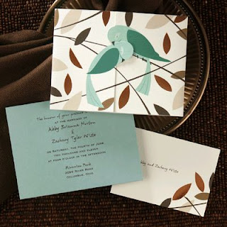 Aqua Blue Cards and Wedding Invitations