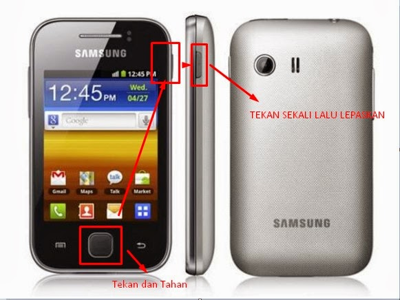 Screen Capture Layar di Samsung galaxy young GT-S5360, Cara ss Samsung ...