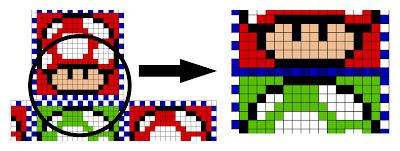 Detalle encajar cubo Hama Beads