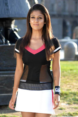 Nayanthara Cute Expressions in Skirt Photos