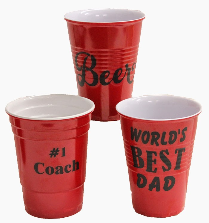 Add vinyl to these sturdy solo cups to create a personalized gift!