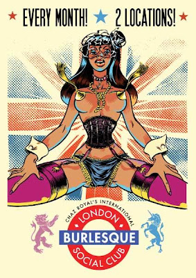 London Burlesque Social Club flyer