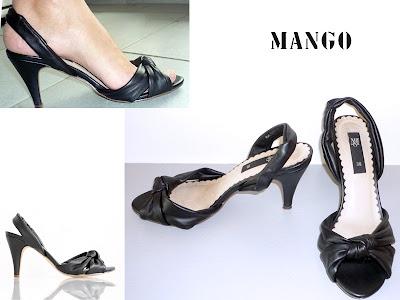 Sandales noires ouvertes, MANGO