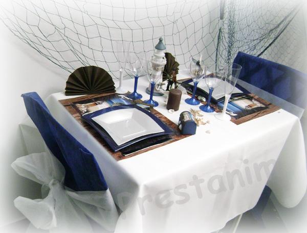 ma d coration de mariage d coration mariage th me mer bleu marine blanc. Black Bedroom Furniture Sets. Home Design Ideas