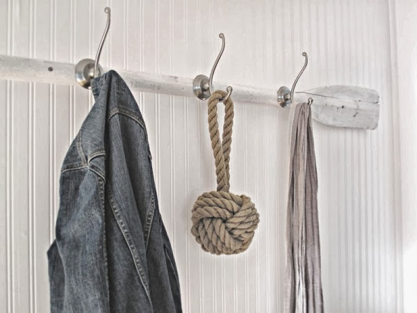Vintage oar coat rack, beach theme a beach cottage