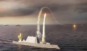 rudal diluncurkan oleh kapal laut AS