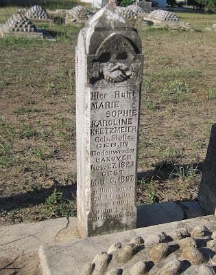 Gravestone of Marie Sophie Karoline Stolle Kretzmeier