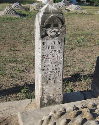 Gravestone of Marie Sophie Karoline Stolle Kretzmeier