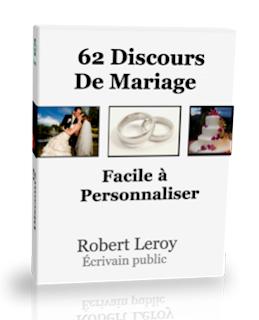 a vendre 62 discours - Exemple Felicitation Mariage