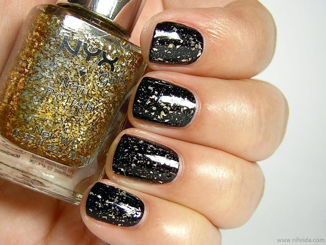 NYX Girls Nail Polish - Gilded Glitter over Dance Floor