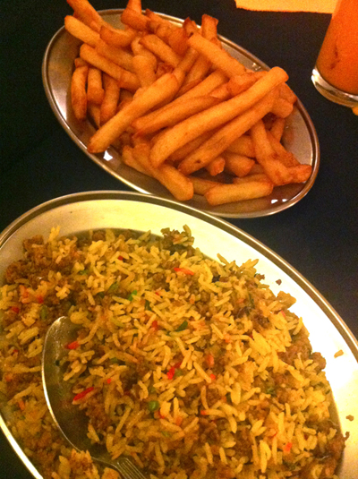 Bengal Cottage - Chips and Keema Ricea