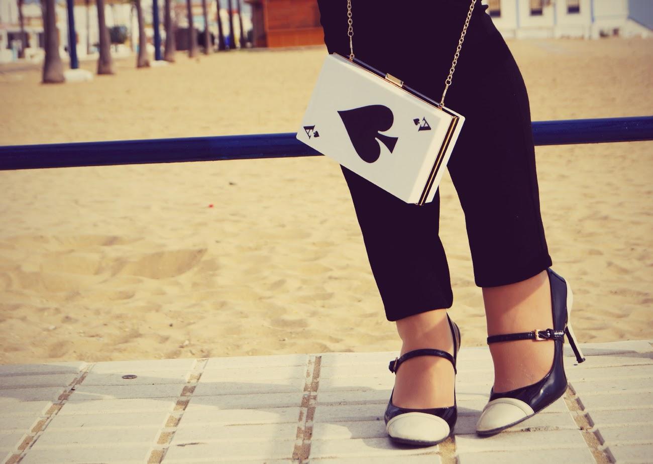 Oasap+Cute+Card+Pattern+Clutch+Bag