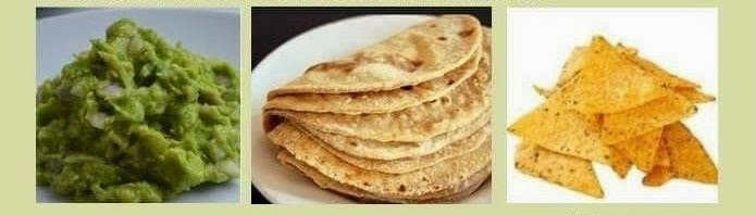 avocado with chapati and chips