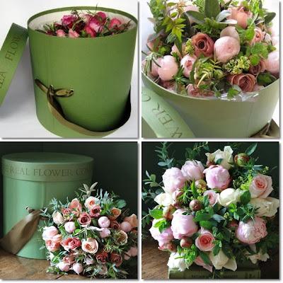 hattask med blommor