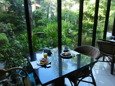 Indoor breakfast area of Bali Garden Beach Resort Kuta