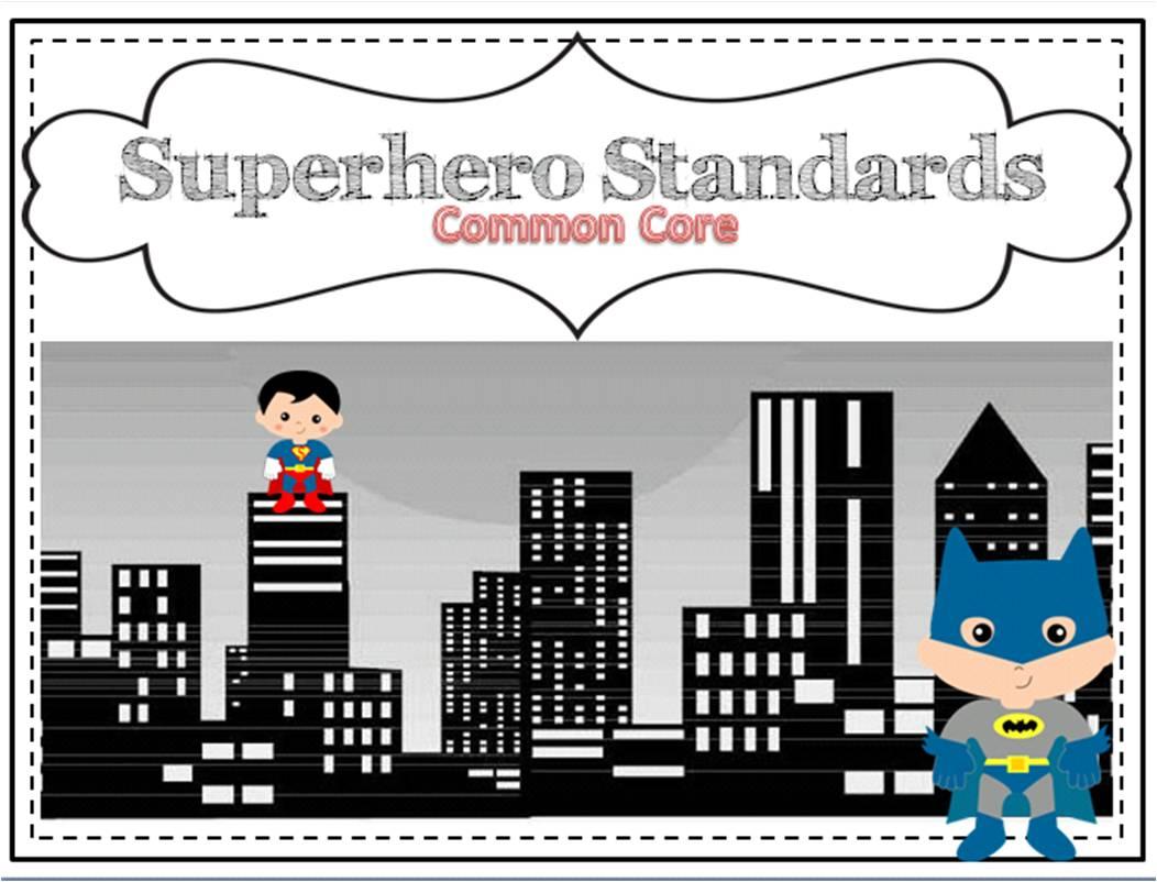 Superhero Classroom Decor Printables : Printable kindergarten common core standards party