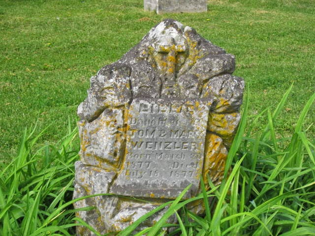 Lillie Wenzler Headstone, Riverview Cem, Clarksville Montgomery Co TN
