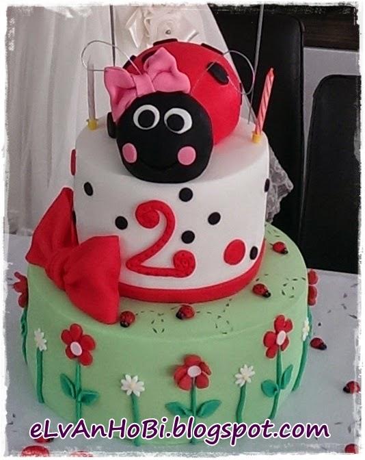 doğum günü pastası,uğurböceği pasta