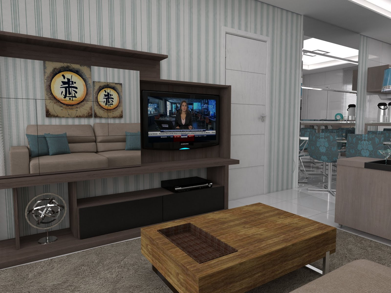 Pin Cozinha E Sala De Jantar Conjugada Minha Casa Cara Hd On Pinterest #644D37 1600x1200