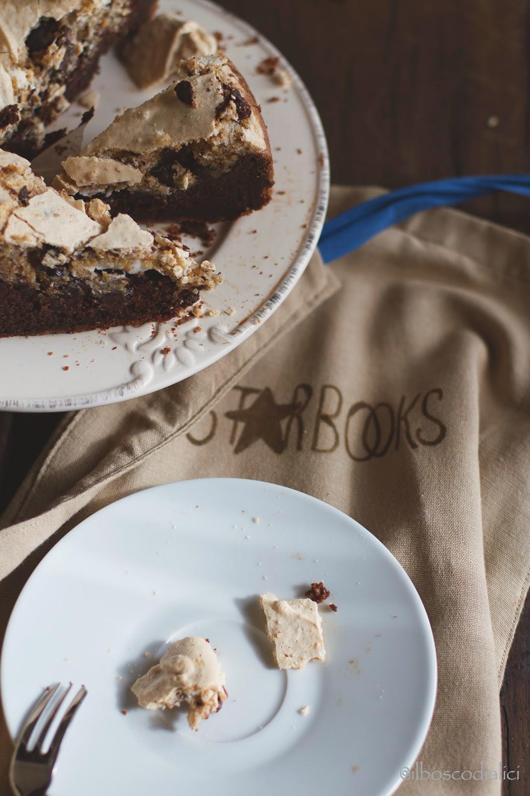 torta al cioccolato e nocciole con meringa - chocolate and hazelnut meringue cake