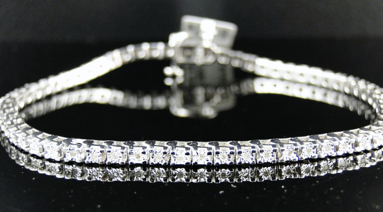 shining round link single wg s row bracelet diamond diamonds