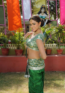 Asmita Sood in Spicy Green Choli Saree
