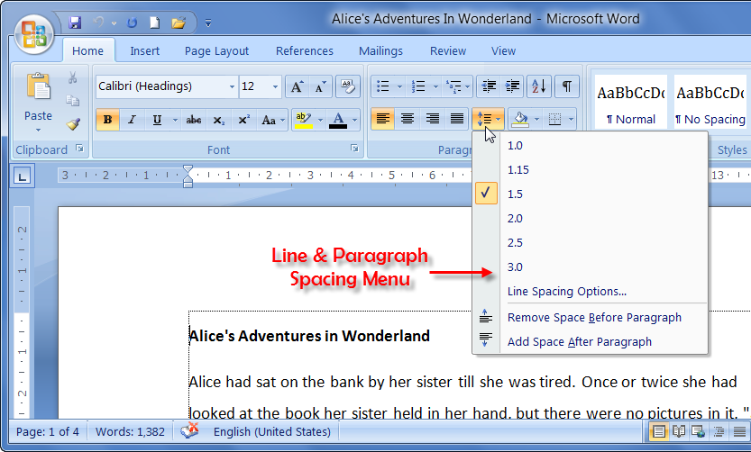 double line spacing in essays The blinking vertical line within a ms word document is the cursor the cursor   to double-space your essay, select format from the menu bar then, select.