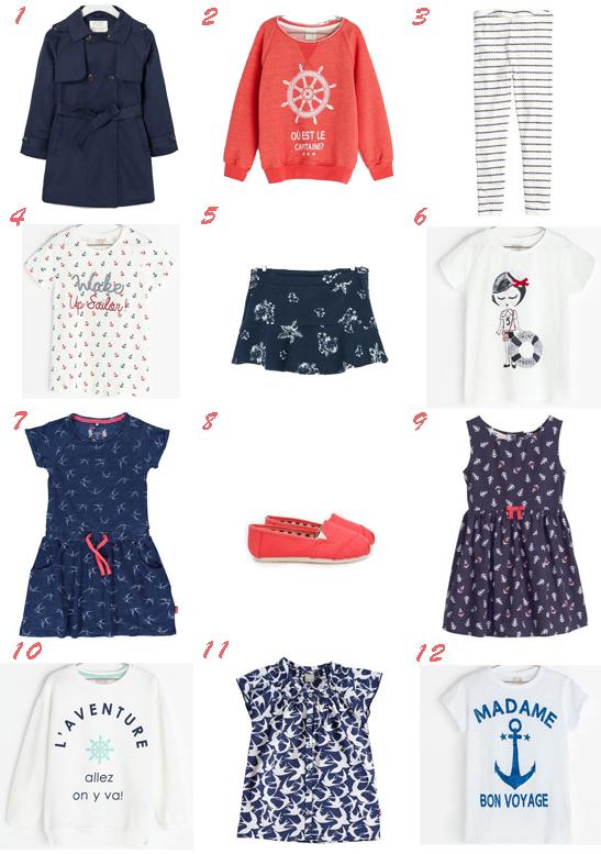 Moda marinera para niñas primavera verano 2014 anclas