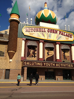 The Mitchell Corn Palace, completely decorated in agricultural products