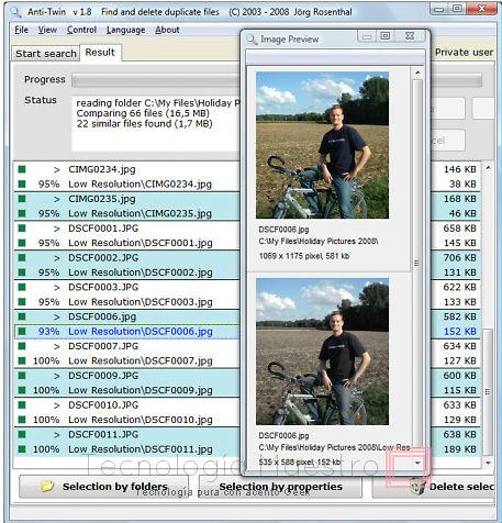 Anti-Twin el programa perfecto para buscar y borrar archivos duplicados