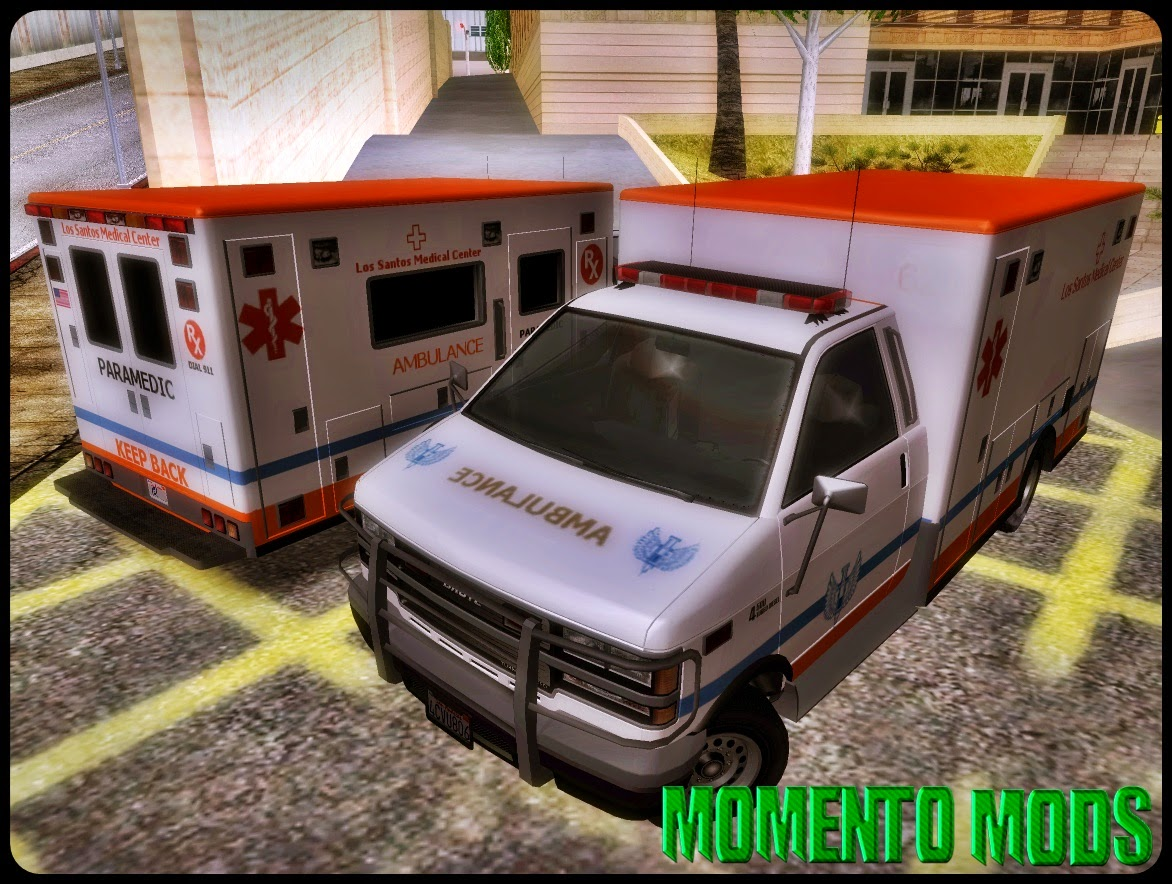 GTA SA - Ambulância Convertido Do GTA V
