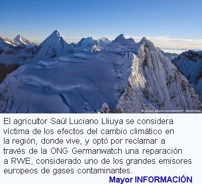 MUNDO: Peruano demanda a consorcio enegético alemán por cambio climático