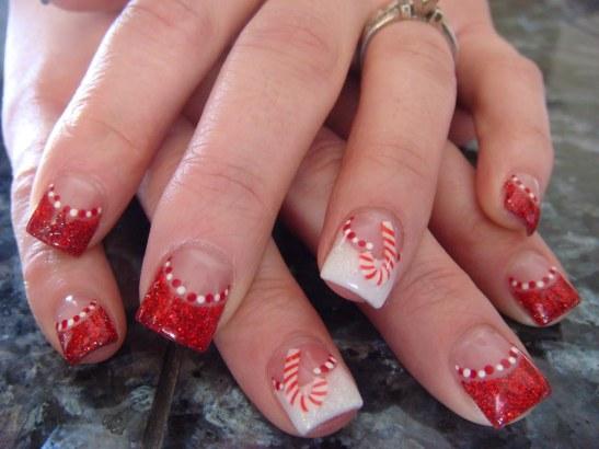 Imágenes de modelos navideños para decoración de uñas