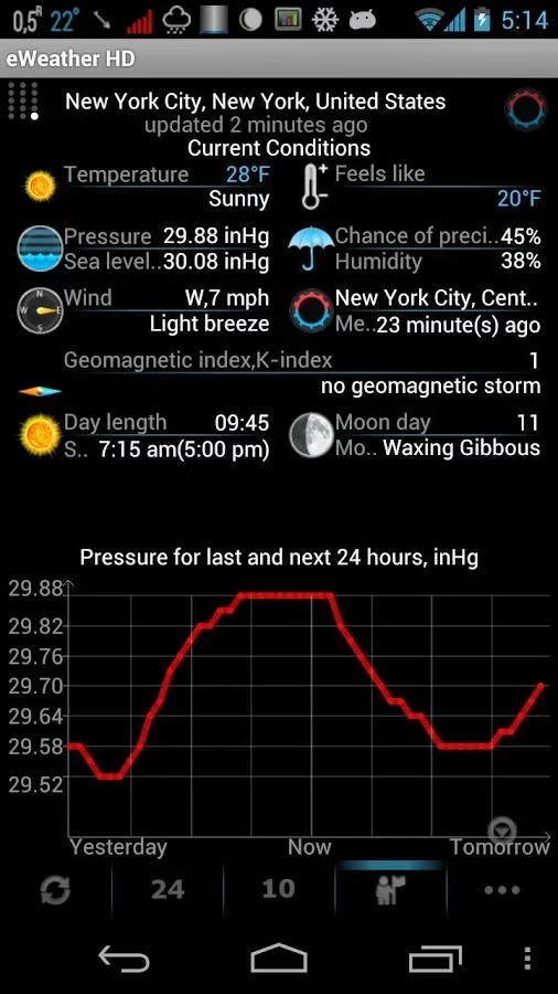 eWeather HD, Radar HD, Alerts v5.4.9 beta