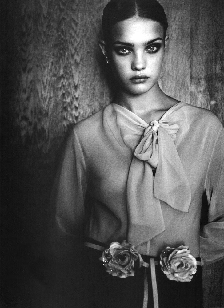 Natalia Vodianova in Belle de nuit | Marie Claire Australia March 2001 (photography: Friedemann Hauss)