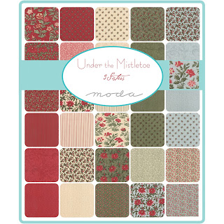 Moda UNDER THE MISTLETOE Fabric by 3 Sisters for Moda Fabrics