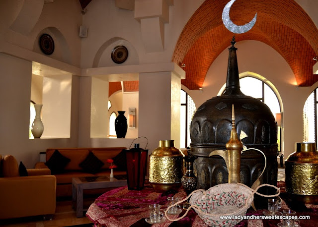 Arabic decors at The Cove Rotana's lobby