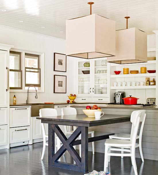 2013 white kitchen decorating ideas from bhg furniture for White kitchen designs 2013