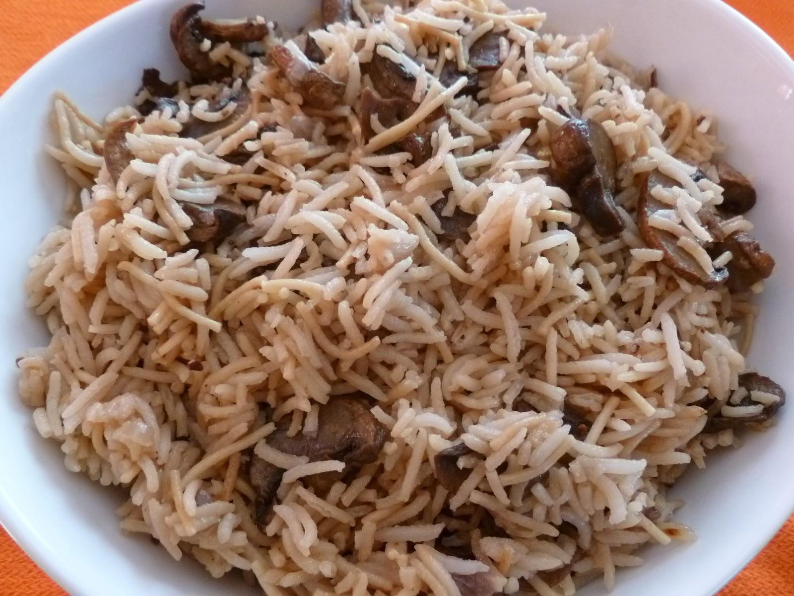Mushroom Brown Rice