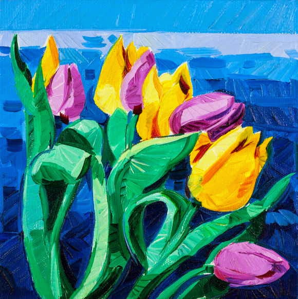 Flowers Painting High Resolution