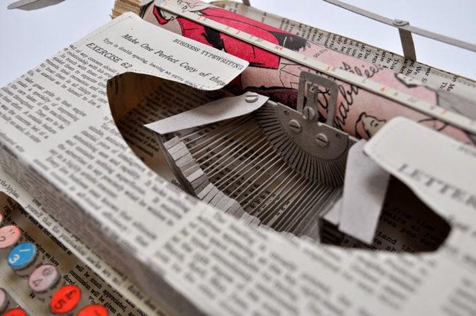 15-Typewriter-2-Jennifer-Collier-Stitched-Paper-Sculptures-www-designstack-co