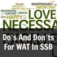 Do's And Don'ts For WAT In SSB