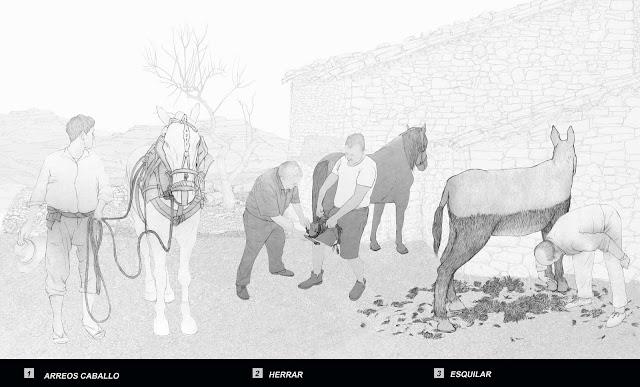 caballos, machos,mulos, arreos,herrar, esquilar