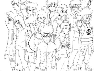 Desenho Naruto para colorir e pintar