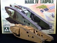 "Build Review: Takom's 35th scale WWI Heavy Tank w/Rear Mortar Mark.IV ""Tadpole"""