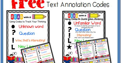 Text annotation codes printable file folder games other for The paint brush kid comprehension questions